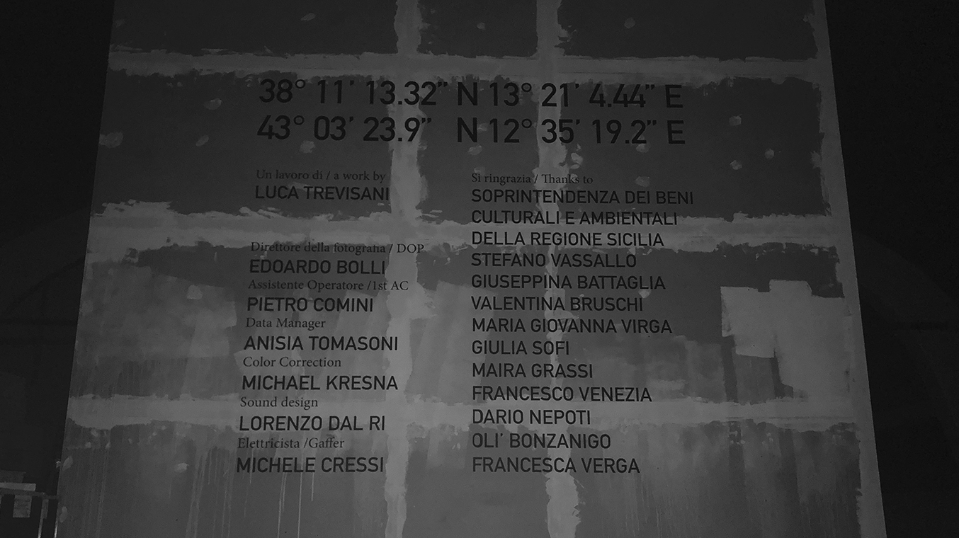 Lorenzo Dal Ri — Sound Design / Location Recording 38° 11′ 13.32″ N 13° 21′ 4.44″ E / 43° 03′ 23.9″ N 12° 35′ 19.2″ E
